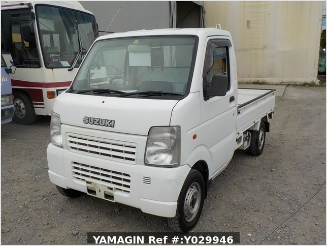 It is a picture of the white suzuki carry truck in 2002,Sub Photo 1 Stock No.Y029946