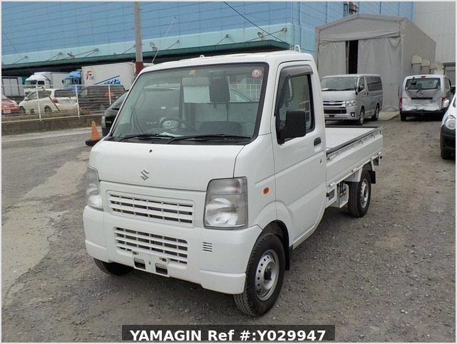 It is a picture of the white suzuki carry truck in 2011,Sub Photo 1 Stock No.Y029947