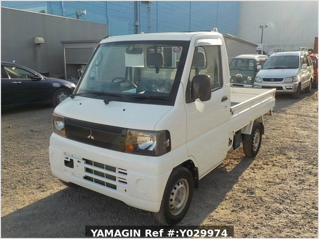 It is a picture of the white mitsubishi minicab truck in 2008,Sub Photo 1 Stock No.Y029974