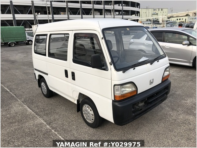 It is a picture of the white honda acty van passenger van in 1995,Sub Photo 0 Stock No.Y029975