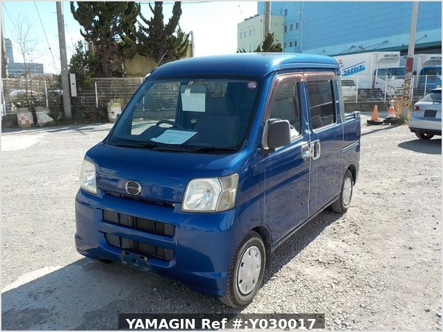 It is a picture of the blue daihatsu hijet deck van in 2007,Sub Photo 1 Stock No.Y030017