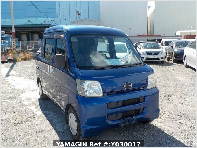 It is a picture of the blue daihatsu hijet deck van in 2007,Sub Photo 0 Stock No.Y030017