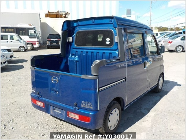 It is a picture of the blue daihatsu hijet deck van in 2007,Sub Photo 2 Stock No.Y030017