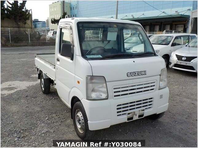 It is a picture of the white suzuki carry truck in 2008,Sub Photo 0 Stock No.Y030084