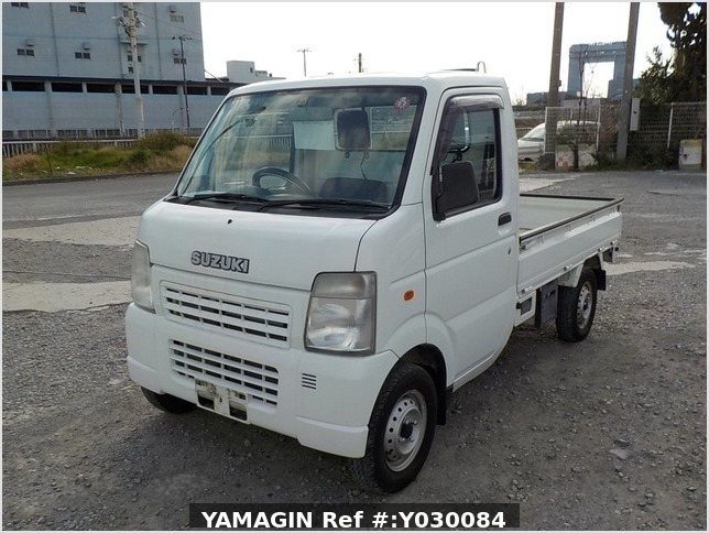 It is a picture of the white suzuki carry truck in 2008,Sub Photo 1 Stock No.Y030084