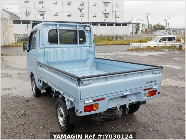 It is a picture of the blue daihatsu hijet truck in 2014,Sub Photo 3 Stock No.Y030124