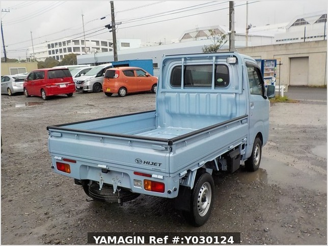 It is a picture of the blue daihatsu hijet truck in 2014,Sub Photo 2 Stock No.Y030124