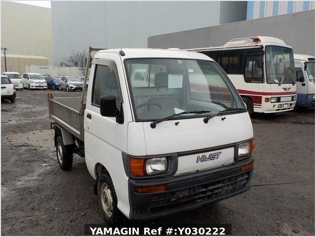 It is a picture of the white daihatsu hijet dump in 1996,Sub Photo 1 Stock No.Y030222