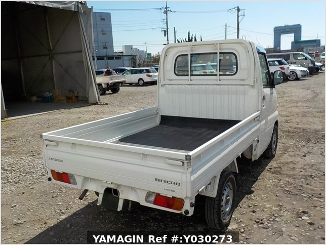 It is a picture of the white mitsubishi minicab truck in 2004,Sub Photo 2 Stock No.Y030273