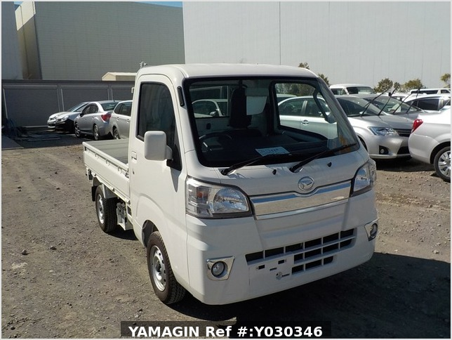 It is a picture of the white daihatsu hijet truck in 2017,Sub Photo 0 Stock No.Y030346