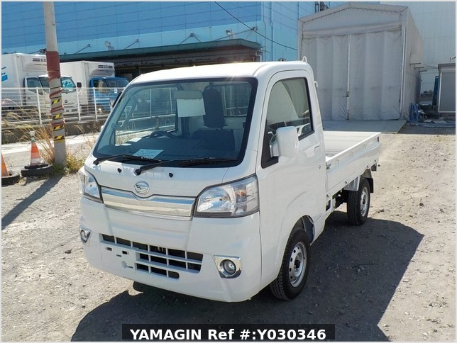 It is a picture of the white daihatsu hijet truck in 2017,Sub Photo 1 Stock No.Y030346