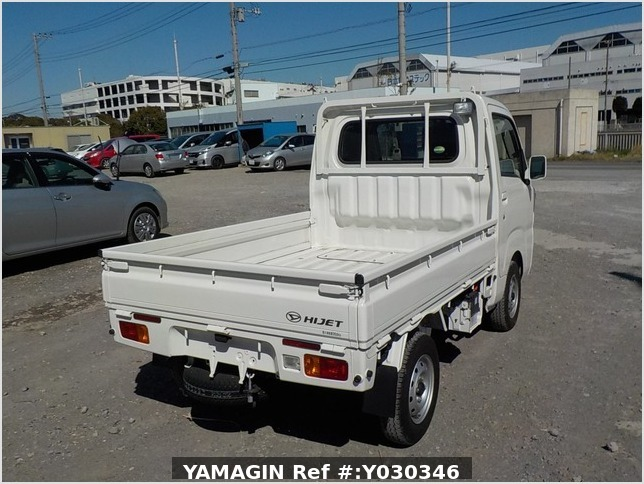 It is a picture of the white daihatsu hijet truck in 2017,Sub Photo 2 Stock No.Y030346