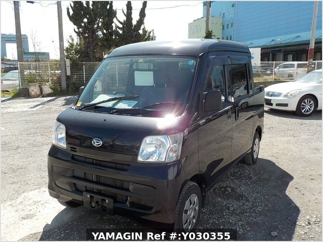 It is a picture of the black daihatsu hijet deck van in 2014,Sub Photo 1 Stock No.Y030355
