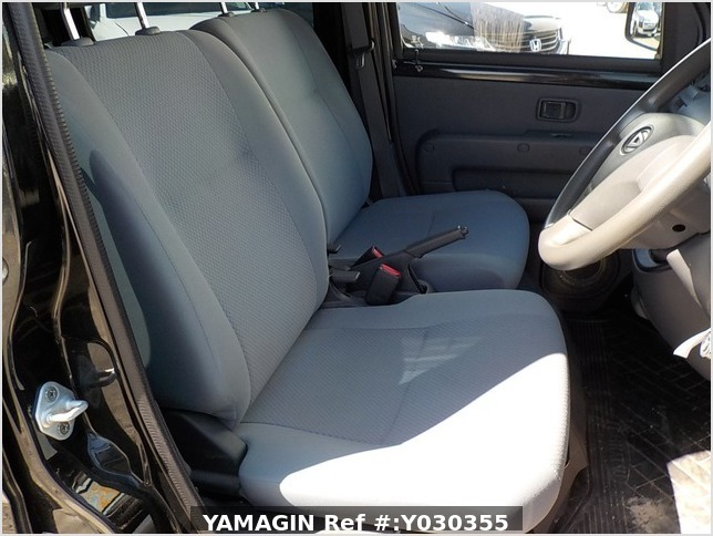 It is a picture of the black daihatsu hijet deck van in 2014,Sub Photo 5 Stock No.Y030355