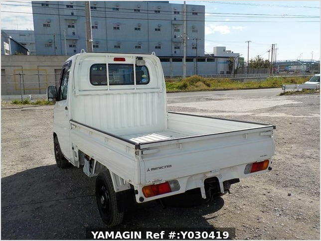 It is a picture of the white mitsubishi minicab truck in 2009,Sub Photo 3 Stock No.Y030419