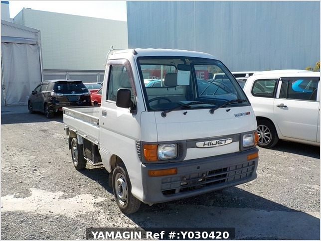 It is a picture of the white daihatsu hijet truck in 1996,Sub Photo 0 Stock No.Y030420