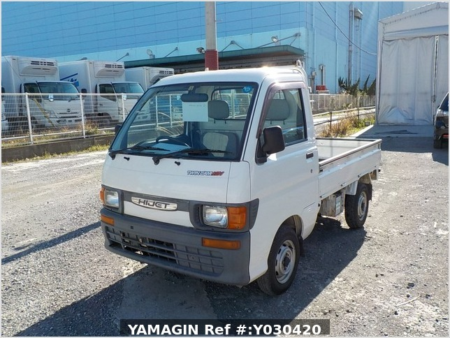 It is a picture of the white daihatsu hijet truck in 1996,Sub Photo 1 Stock No.Y030420