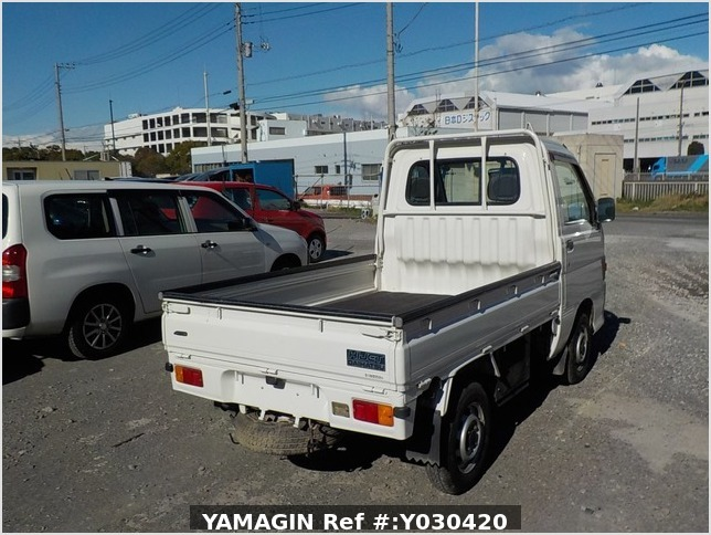 It is a picture of the white daihatsu hijet truck in 1996,Sub Photo 2 Stock No.Y030420
