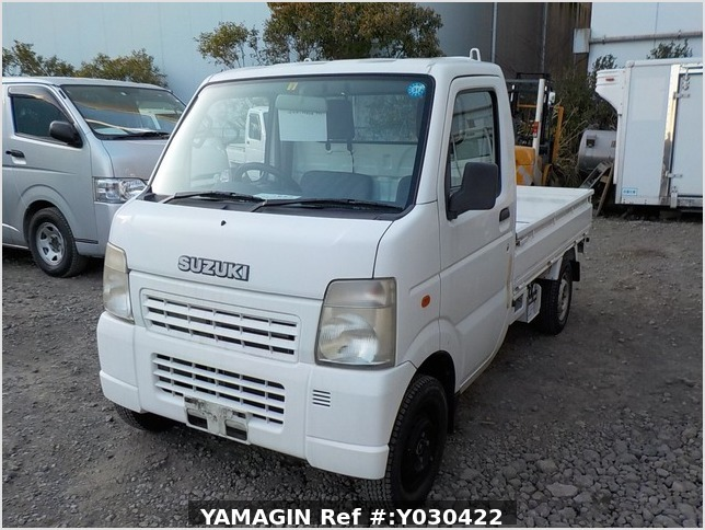 It is a picture of the white suzuki carry truck in 2006,Sub Photo 1 Stock No.Y030422