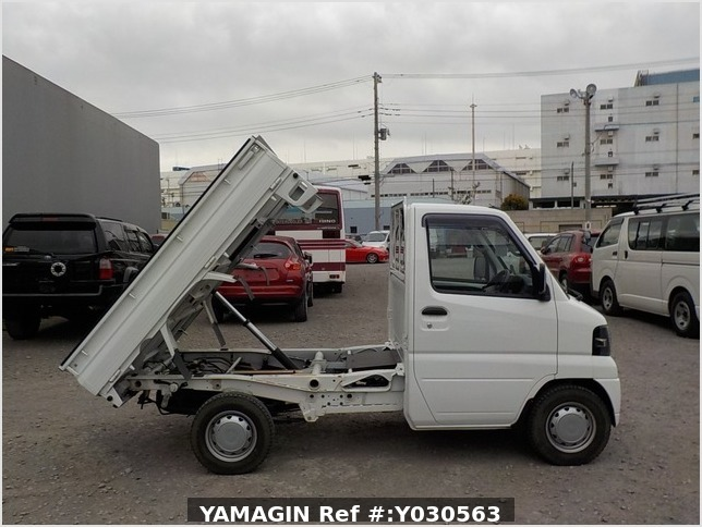 It is a picture of the white mitsubishi minicab dump in 2010,Sub Photo 0 Stock No.Y030563