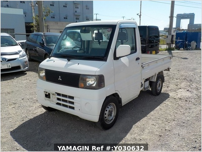 It is a picture of the white mitsubishi minicab truck in 2002,Sub Photo 1 Stock No.Y030632