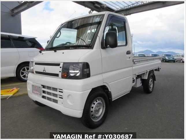 It is a picture of the white mitsubishi minicab truck in 2010,Sub Photo 13 Stock No.Y030687