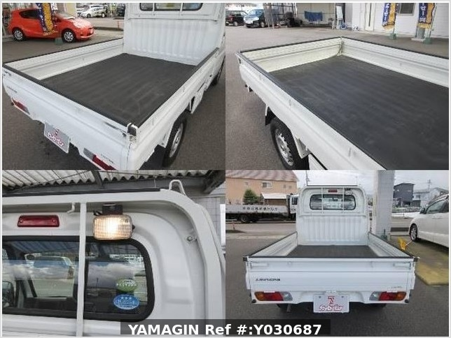 It is a picture of the white mitsubishi minicab truck in 2010,Sub Photo 14 Stock No.Y030687