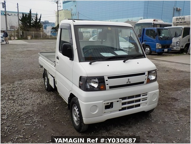It is a picture of the white mitsubishi minicab truck in 2010,Sub Photo 8 Stock No.Y030687