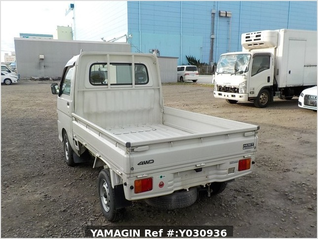 It is a picture of the white daihatsu hijet truck in 2002,Sub Photo 3 Stock No.Y030936