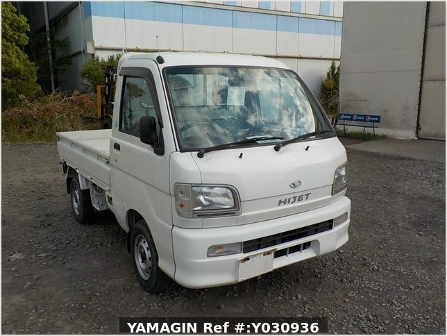It is a picture of the white daihatsu hijet truck in 2002,Sub Photo 0 Stock No.Y030936