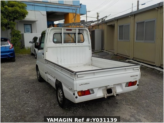 It is a picture of the white mitsubishi minicab truck in 1999,Sub Photo 3 Stock No.Y031139