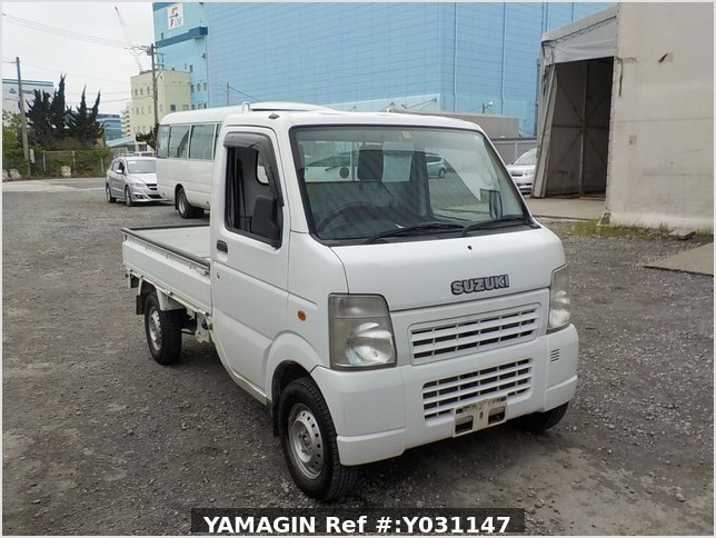 It is a picture of the white suzuki carry truck in 2008,Sub Photo 0 Stock No.Y031147