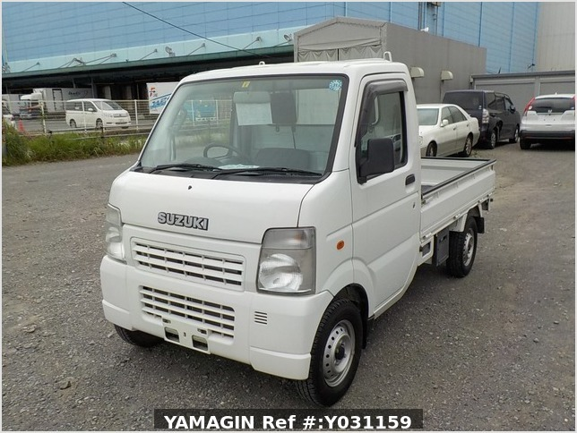It is a picture of the white suzuki carry truck in 2008,Sub Photo 1 Stock No.Y031159