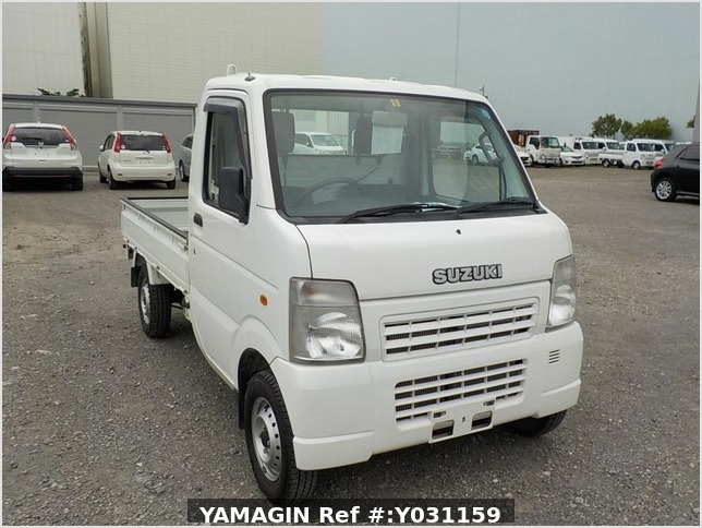 It is a picture of the white suzuki carry truck in 2008,Sub Photo 0 Stock No.Y031159