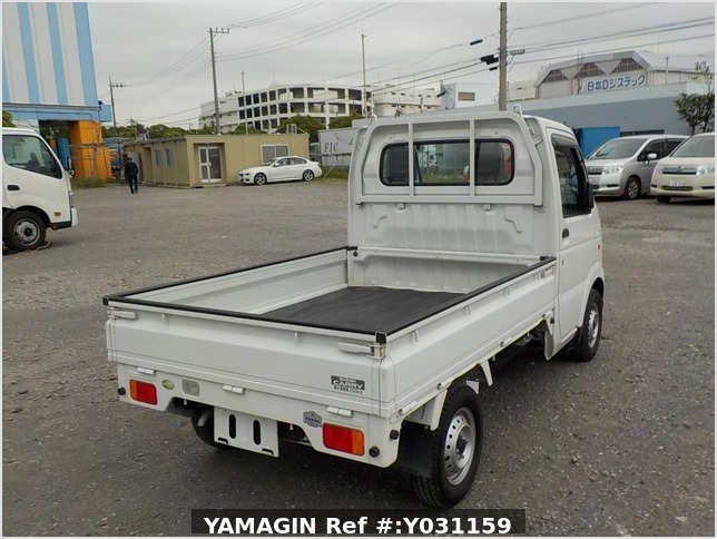It is a picture of the white suzuki carry truck in 2008,Sub Photo 2 Stock No.Y031159