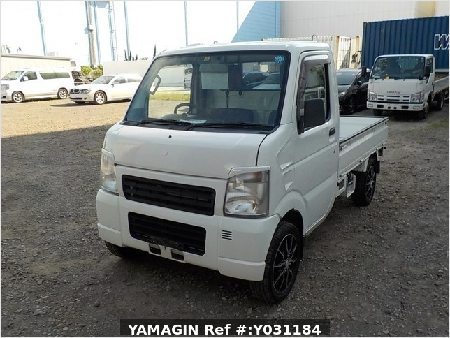 It is a picture of the white suzuki carry truck in 2008,Sub Photo 1 Stock No.Y031184