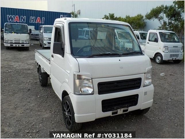 It is a picture of the white suzuki carry truck in 2008,Sub Photo 0 Stock No.Y031184