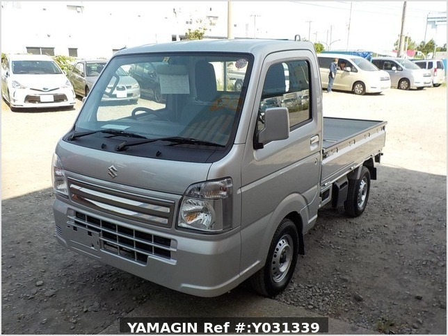 It is a picture of the silver suzuki carry truck in 2019,Sub Photo 1 Stock No.Y031339