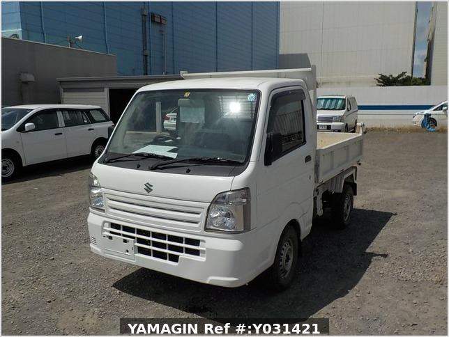 It is a picture of the white suzuki carry dump in 2014,Sub Photo 2 Stock No.Y031421