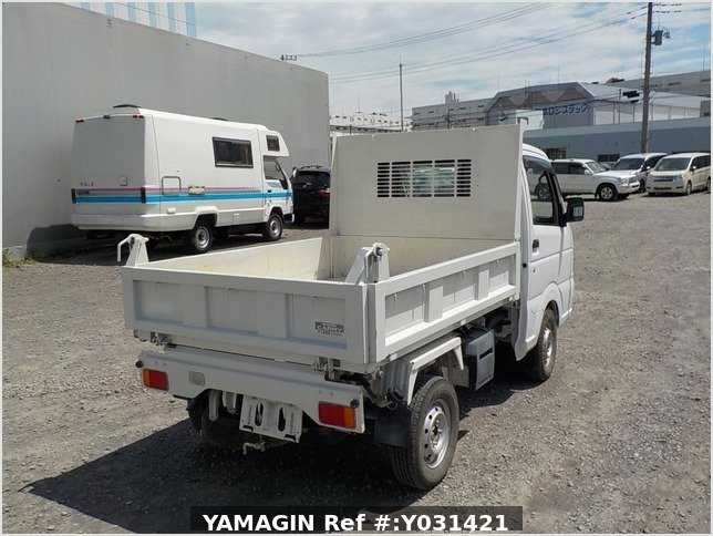 It is a picture of the white suzuki carry dump in 2014,Sub Photo 4 Stock No.Y031421