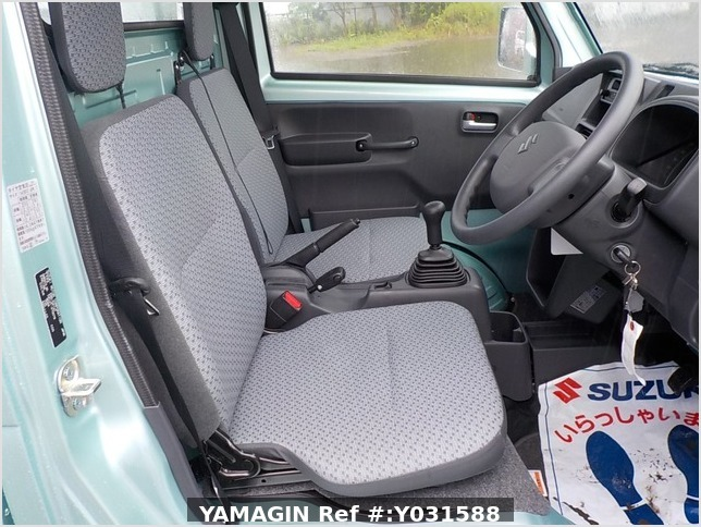 It is a picture of the green suzuki carry truck in 2019,Sub Photo 10 Stock No.Y031588