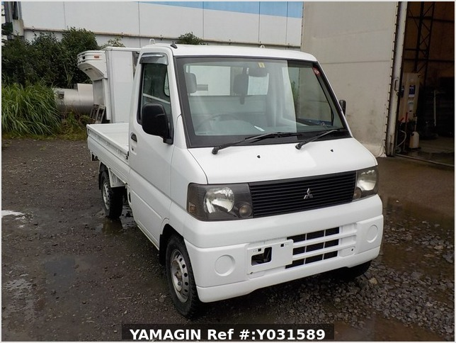 It is a picture of the white mitsubishi minicab truck in 2001,Sub Photo 0 Stock No.Y031589