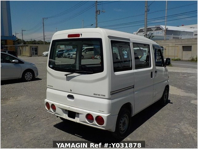 It is a picture of the white mitsubishi minicab passenger van in 2004,Sub Photo 2 Stock No.Y031878