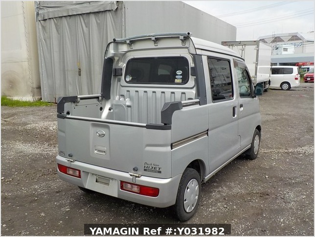 It is a picture of the silver daihatsu hijet deck van in 2006,Sub Photo 2 Stock No.Y031982