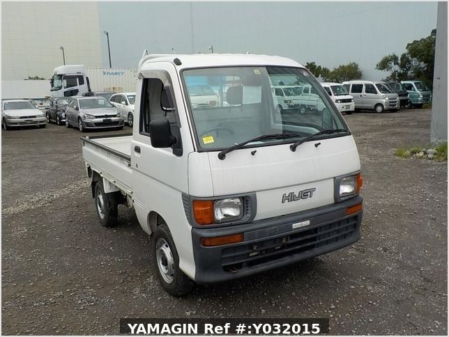 It is a picture of the white daihatsu hijet truck in 1997,Sub Photo 0 Stock No.Y032015