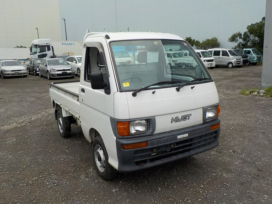 It is a picture of the white daihatsu hijet truck in 1997,First Photo Stock No.Y032015
