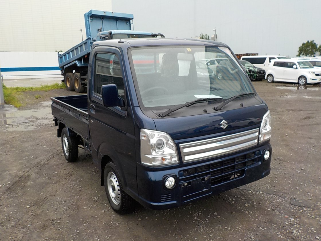 It is a picture of the blue suzuki carry truck in 2019,First Photo Stock No.Y032053