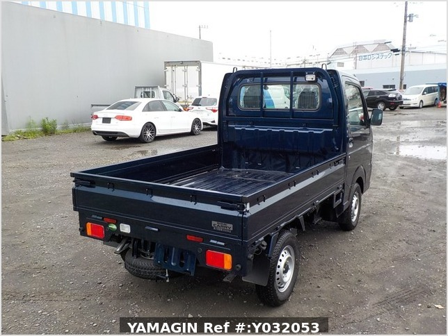 It is a picture of the blue suzuki carry truck in 2019,Sub Photo 2 Stock No.Y032053