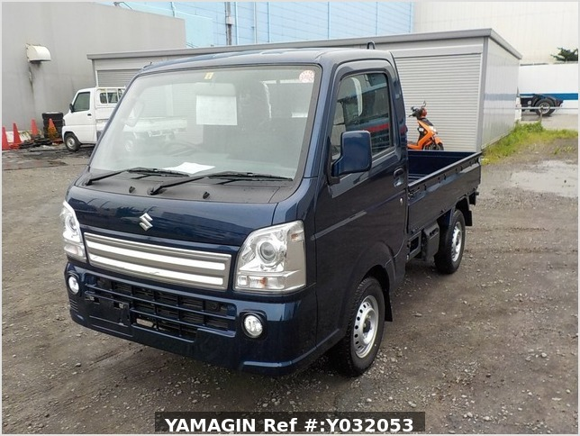 It is a picture of the blue suzuki carry truck in 2019,Sub Photo 1 Stock No.Y032053
