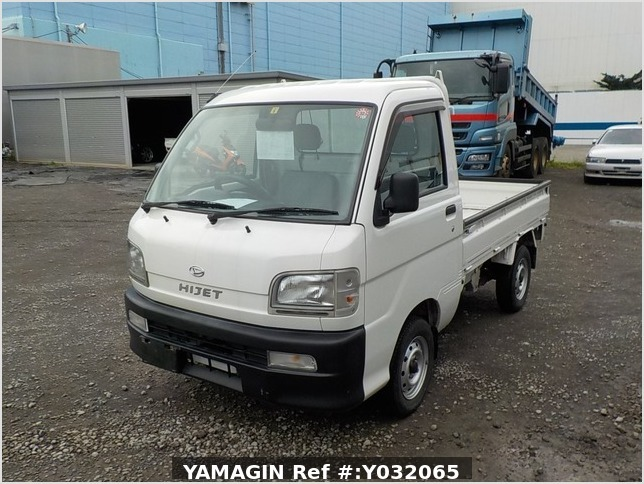 It is a picture of the white daihatsu hijet truck in 1999,Sub Photo 1 Stock No.Y032065
